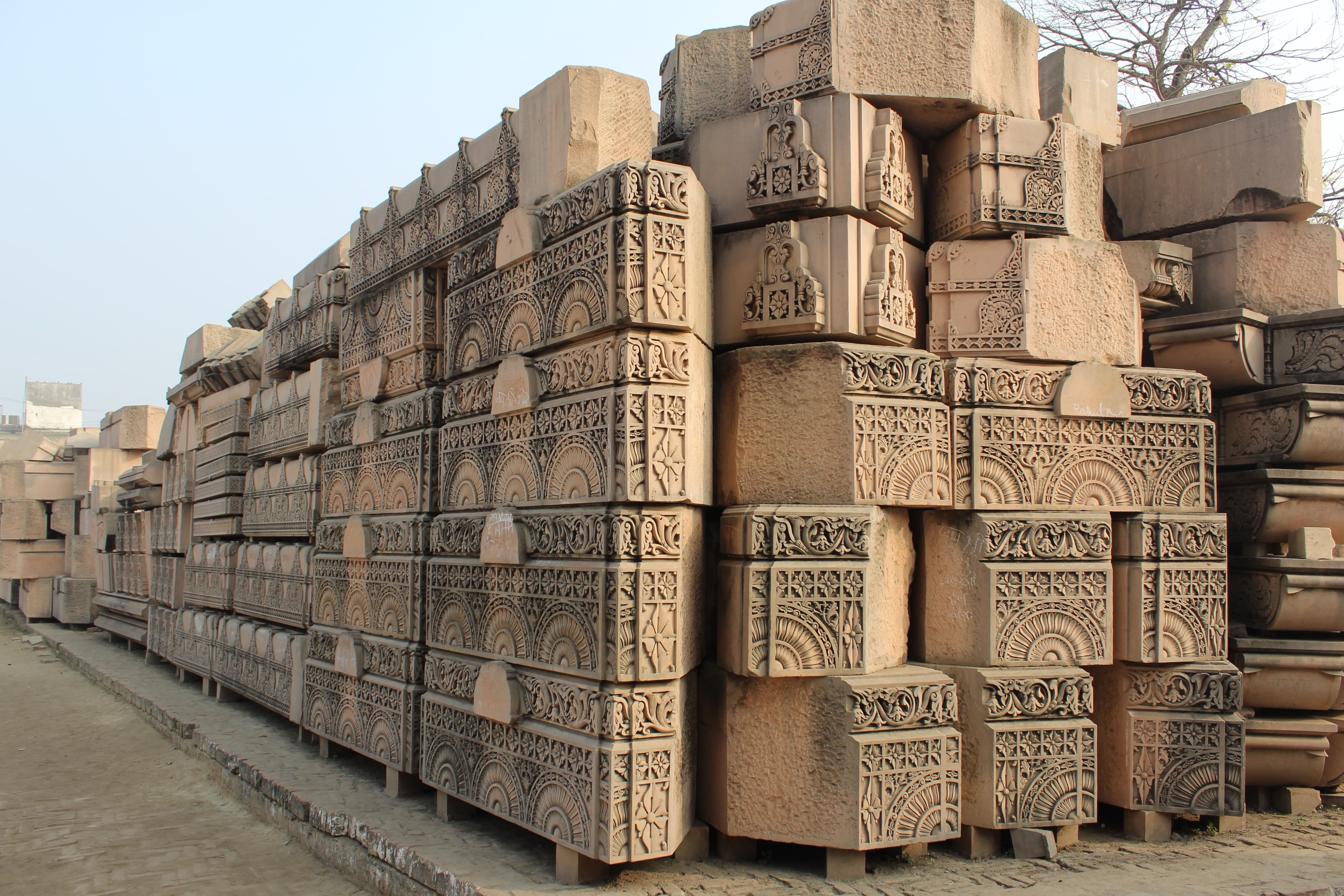 Ram Mandir Construction Workplace