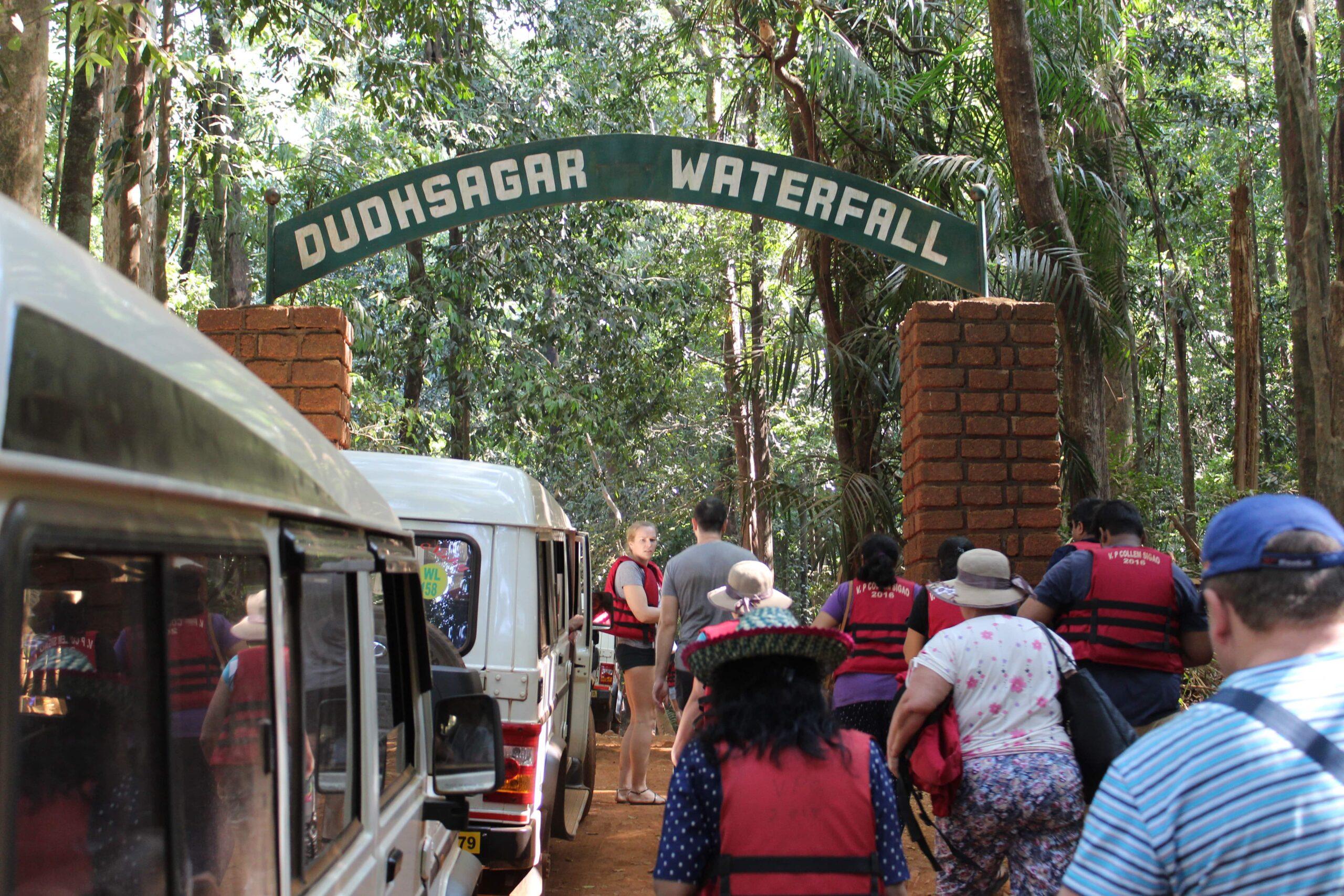 Entrance to Dudhsagar Waterfall