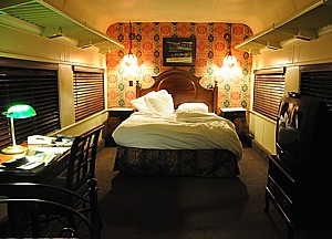 Our room at The Chattanooga Choo Choo, one of the most unusual hotels anywhere. The Chattanooga Choo Choo (1909) Chattanooga, Tennessee, is nominated for Best Social Media of a Historic Hotel © 2014 Karen Rubin/news-photos-features.com