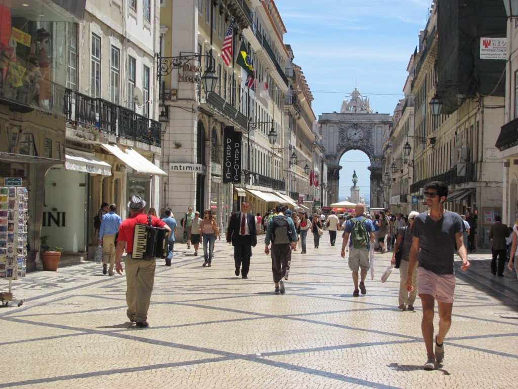 Lisbon, Portugal. Bid by May 1 for airline tickets on TAP Portugal on the Global Traveler auction benefitting the Leukemia & Lymphoma Society © 2015 Karen Rubin/news-photos-features.com