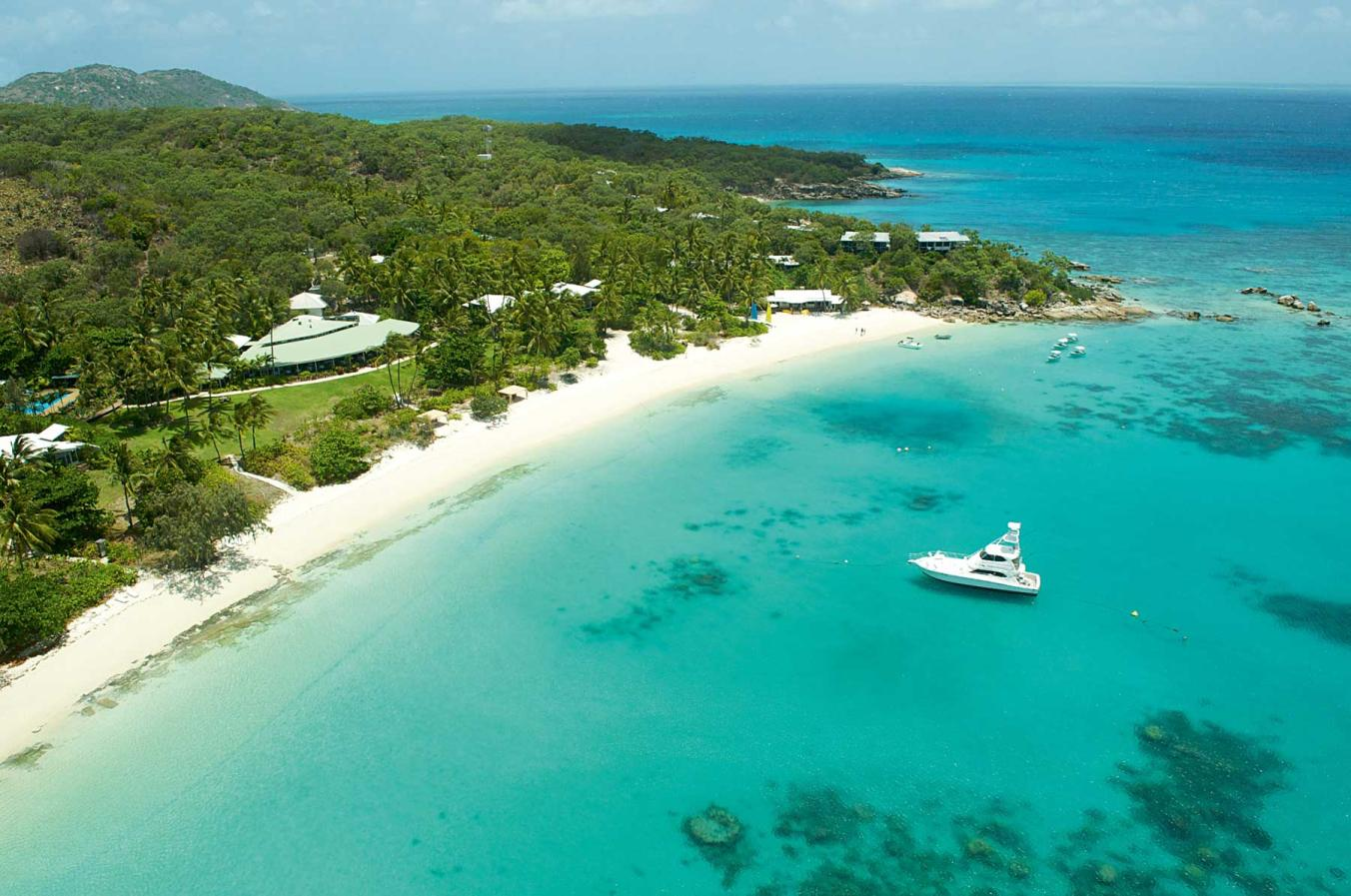Lizard Island resort in the Great Barrier Reef, is the only development on the island, accessible exclusively by plane and filling only 40 rooms at a time (photo by National Geographic Travel).