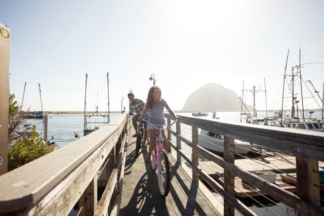 The quaint seaside town of Morro Bay, CA is a perfect place to celebrate National Bike Month. Download the Morro Bay Bike Map and you are on your way (PRNewsFoto/Morro Bay Tourism Bureau)