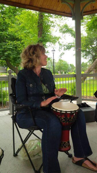 Pamela Jones Fitzgerald drumming