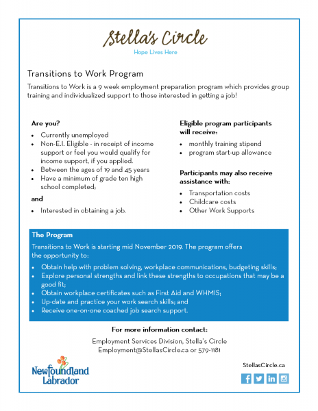 Transitions to Work Employment Program