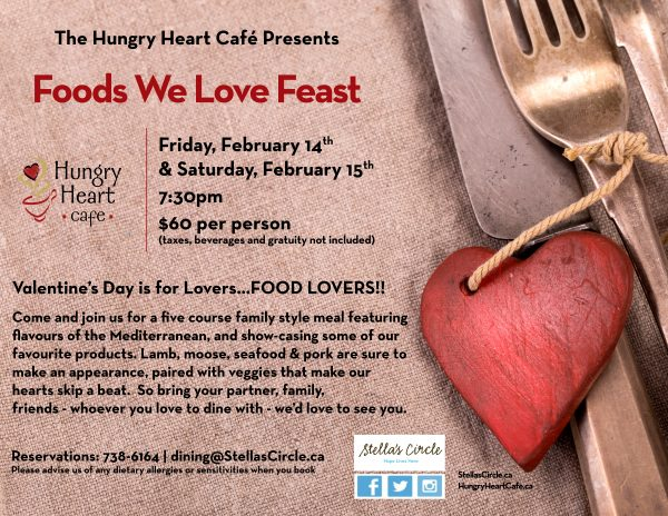 The Food We Love – Valentine's Day in St. John's at Hungry Heart Cafe