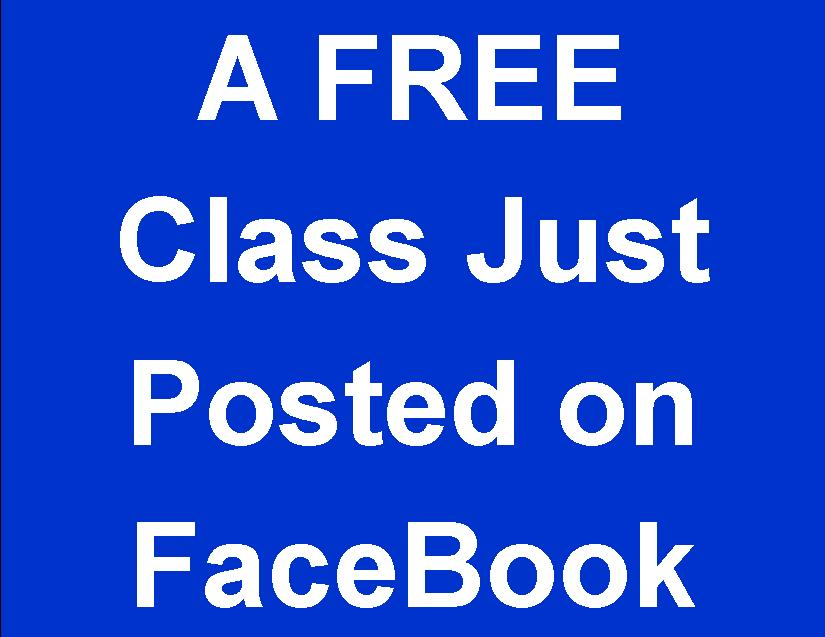 A FREE Class Just Posted on Facebook