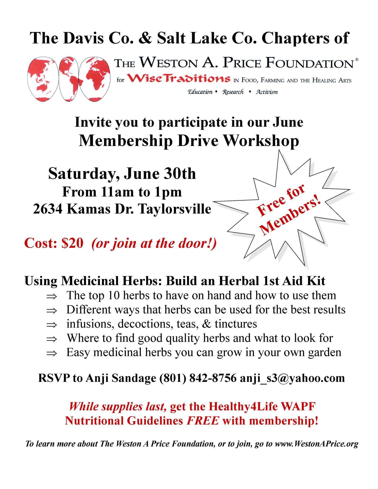 WAPF – Utah Membership Drive Event