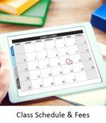 Class Schedule & Fees button