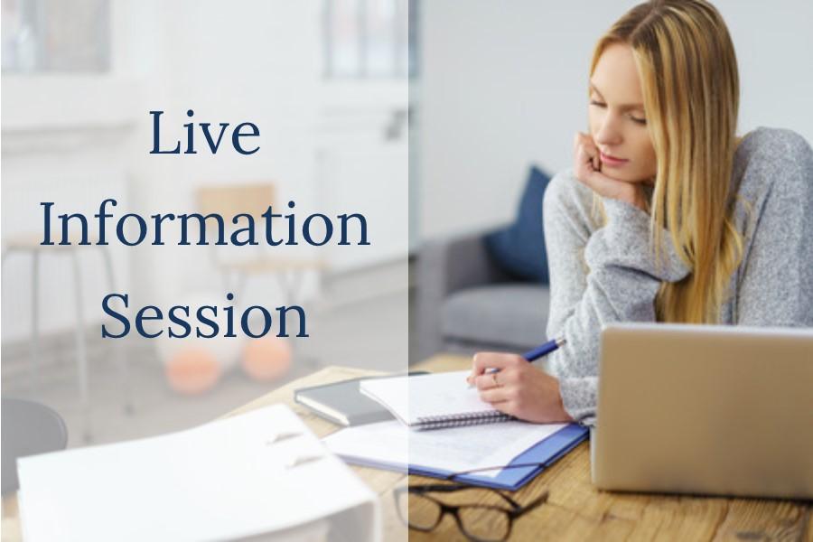 Live Information Session