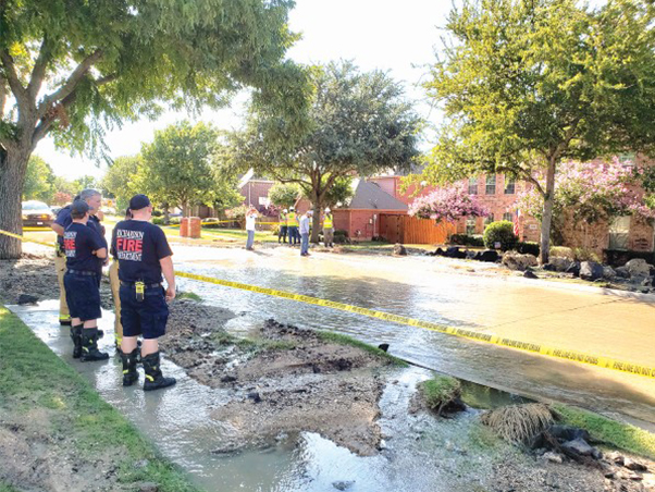 Community pulls together in response to water line break