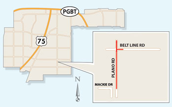 Lane Closures Possible at Belt Line Road/Plano Road Intersection