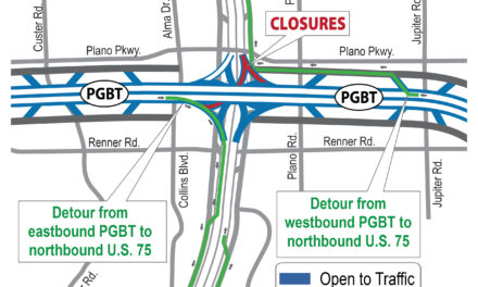 Closure of direct connect ramps from President George Bush Turnpike to US 75