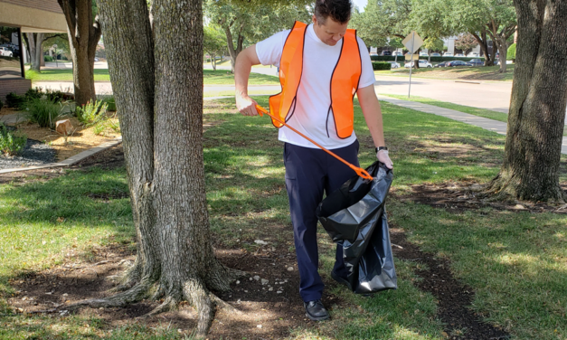 Corporate Cleanup Project Helps Beautify Commercial Area