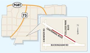 Turning Lane Closures Expected on Centennial Boulevard