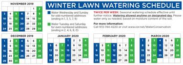 Winter Water Schedule Has Begun