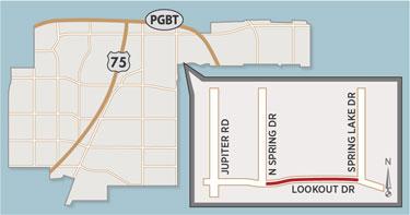 Lookout Drive Lane Closures Begin East of Jupiter Road Next Week