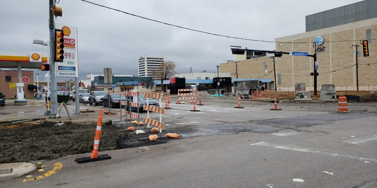Crews prepare to close main street feb. 8-9.