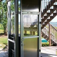 Exterior Elevator Lower Level