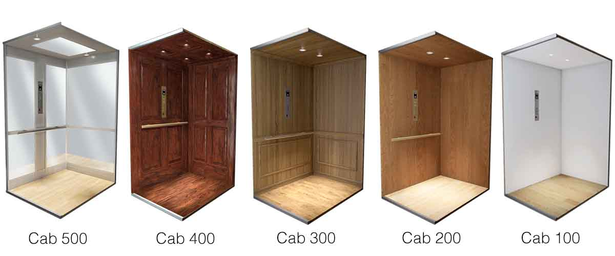 Crown Inclinator Elevator Cab Styles