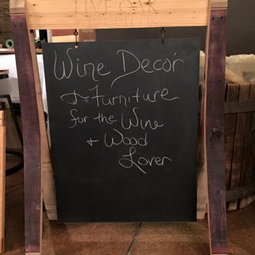 Wine Stave Chalkboard Sign 2