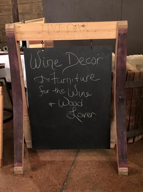 Wine Stave Chalkboard Sign 2