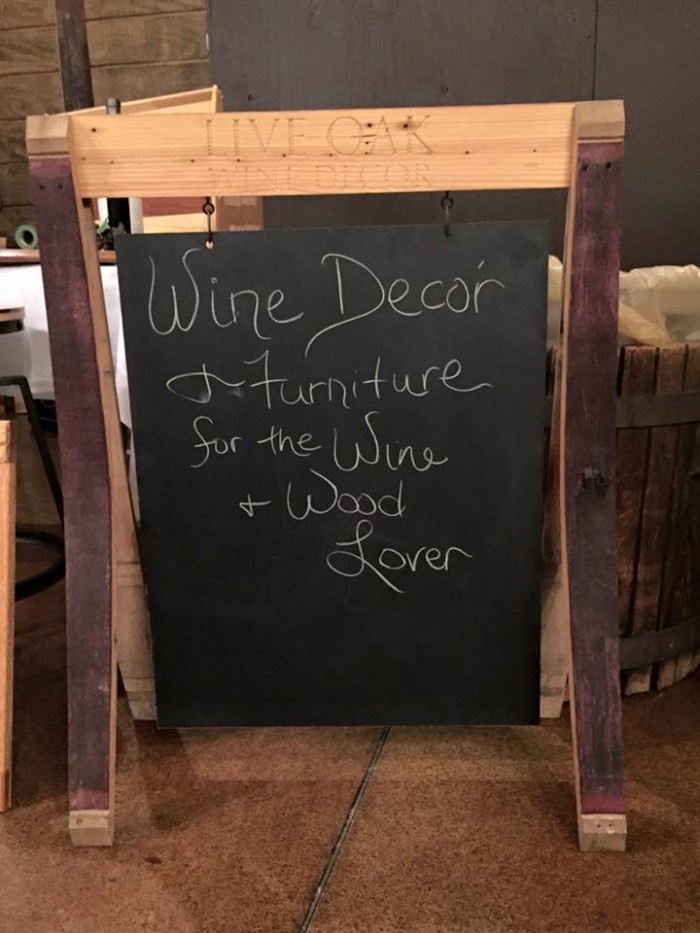 Wine Stave Chalkboard Sign 1