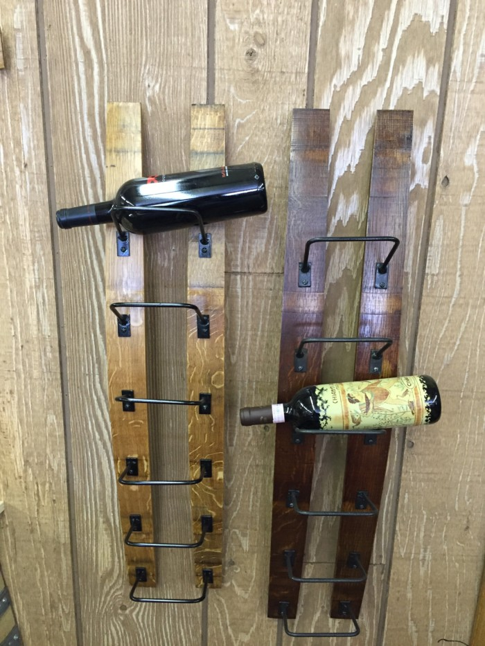 Double Barrel Stave Wine Rack 1