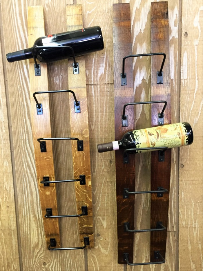 Double Barrel Stave Wine Rack 6