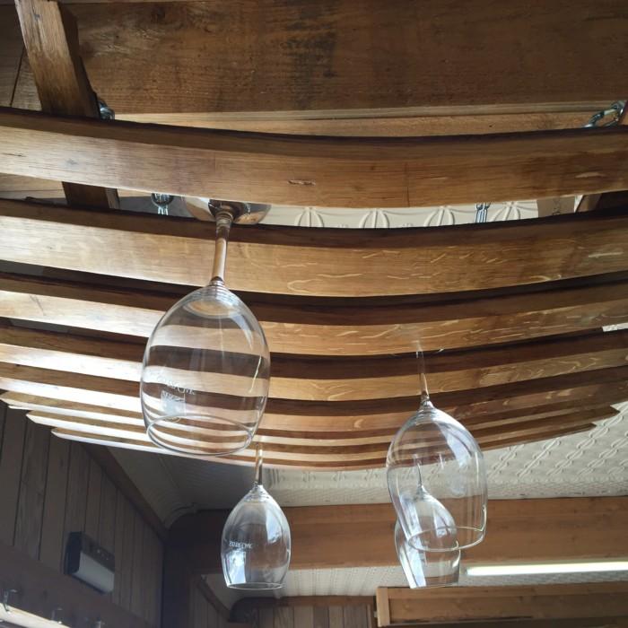 Barrel Stave Hanging Wine Glass Rack 3