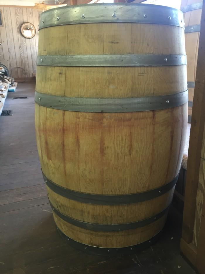 Sanded and Reinforced Wine Barrel 3