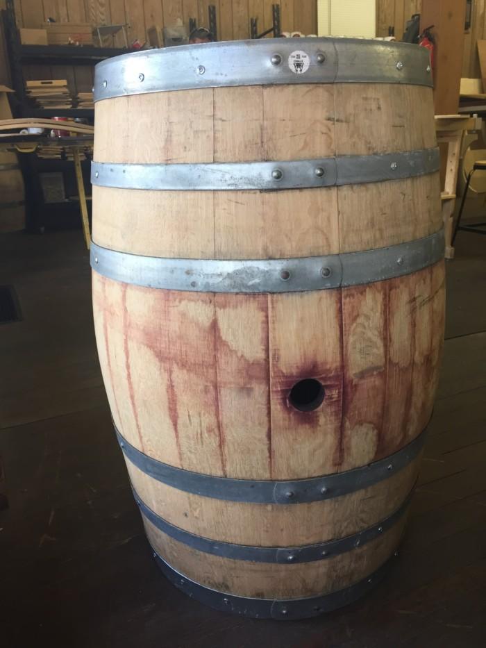 Sanded and Reinforced Wine Barrel 1
