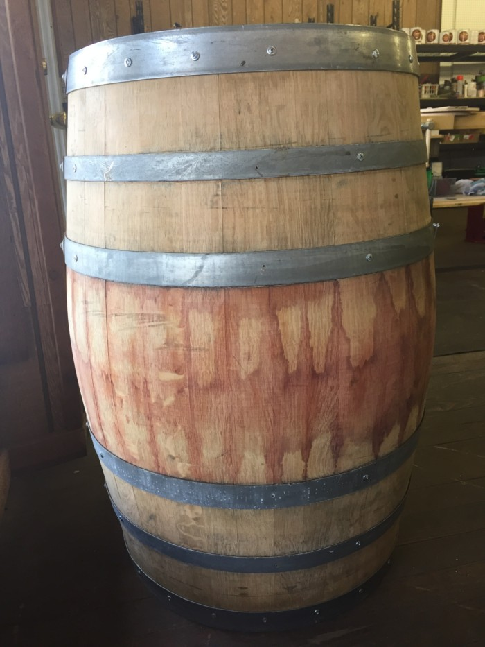 Sanded and Reinforced Wine Barrel 2