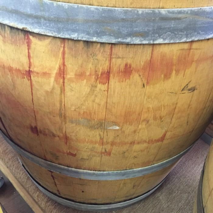 Sanded and Reinforced Wine Barrel 4