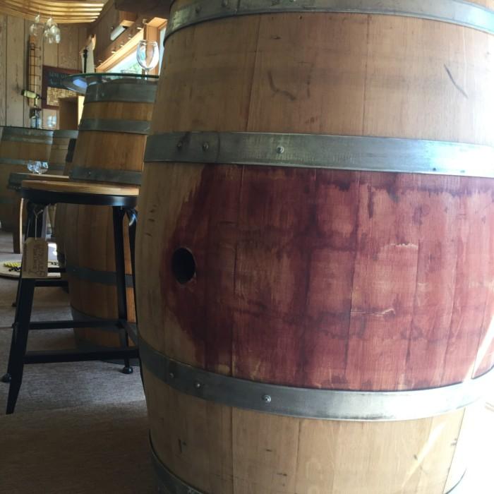Sanded and Reinforced Wine Barrel 5