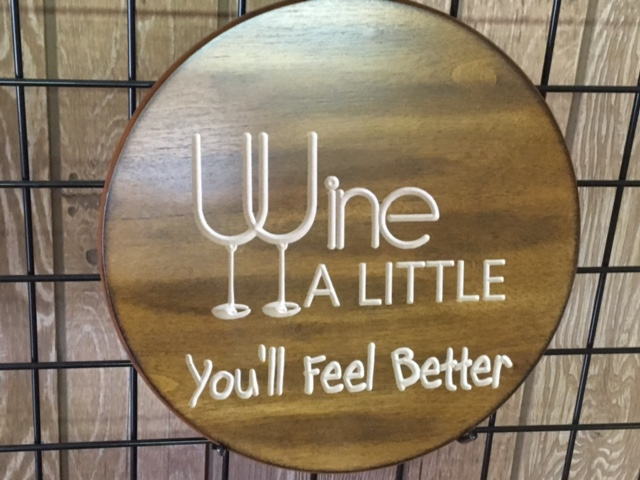 shop wine sign for home