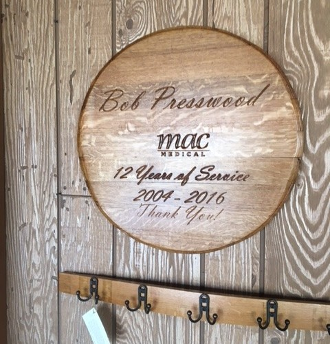 Engraved Barrel End Recognition Plaque 2
