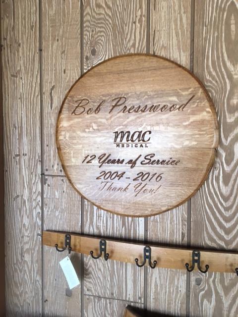 Engraved Barrel End Recognition Plaque 12
