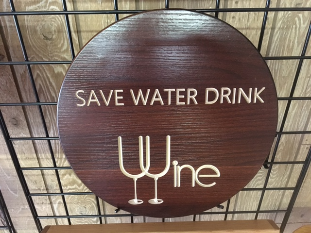 Save Water Drink Wine Sign 1