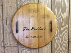 wine plaque customized with name