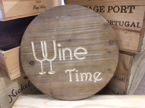 Wine Time Sign 6