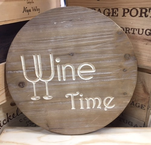 Wine Time Sign 9