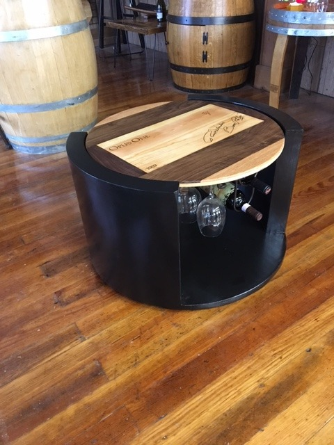 coffee table made from wine box