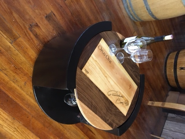 Accent Table with Wine and Glass Racks 2