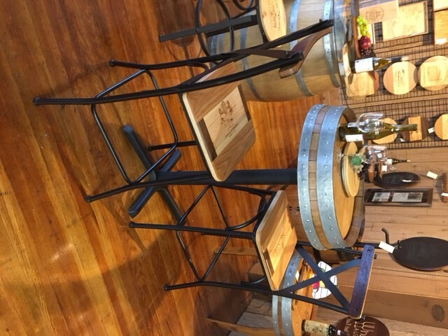 Italian Bar Stools with Wine Barrel Stave Back 1