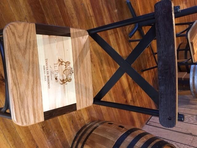 Italian Bar Stools with Wine Barrel Stave Back 4