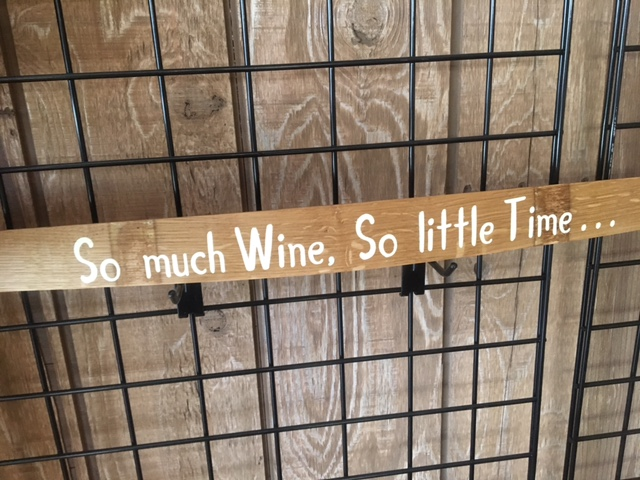 decorate your home with wine sign
