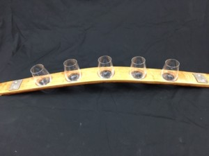 5 Glass Sampler Wine Flight with Authentic Barrel Banding 2