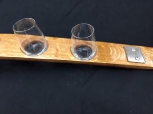 5 Glass Sampler Wine Flight with Authentic Barrel Banding 3