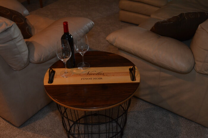 Wine Decor - Wire Basket End Table 4