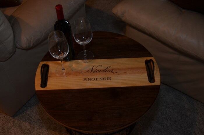 Wine Decor - Wire Basket End Table 3